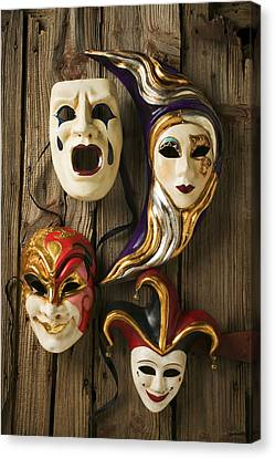 Four Masks Canvas Print by Garry Gay