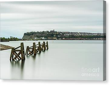 Four Minutes At Cardiff Bay Canvas Print by Steve Purnell