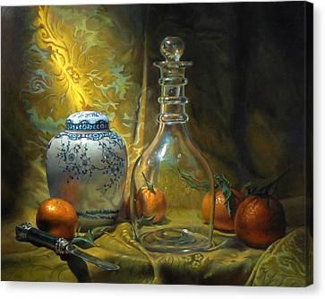 Four Oranges Canvas Print by Jeffrey Hayes