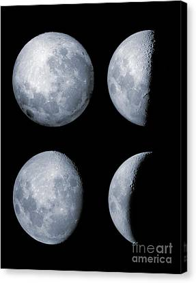 Four Phases Of The Moon Canvas Print by Rolf Geissinger