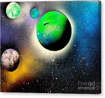 Four Planets 02 E Canvas Print by Greg Moores
