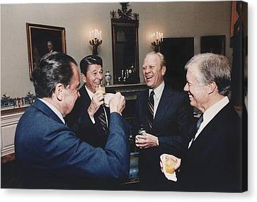 Four Presidents Nixon Reagan Ford Canvas Print by Everett