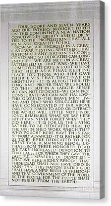 Four Score And Seven Years...... Canvas Print by Allen Beatty