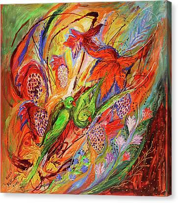 Four Seasons Of Vine Autumn Canvas Print