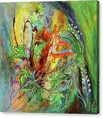 Four Seasons Of Vine Spring Canvas Print