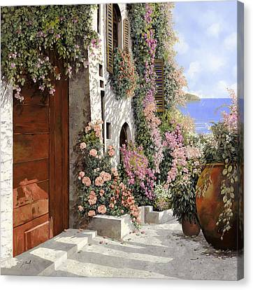 four seasons- spring in Tuscany Canvas Print by Guido Borelli