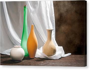 Four Vases II Canvas Print