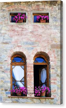 Four Windows Canvas Print by Marilyn Hunt