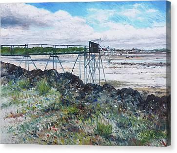 Fouras Village La Rochelle France 2016 Canvas Print by Enver Larney
