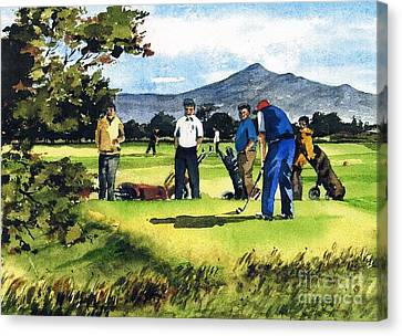 Fourball In Bray Canvas Print