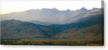 Fourmile Canyon Wildfire Front Range Wind View 09-09-10 Panorama Canvas Print by James BO  Insogna