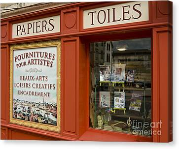 Fourniture Des Artisites    Art Supplies Canvas Print by Mark Hendrickson