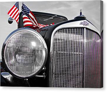 Fourth Of July-chevvy  Canvas Print by Douglas Barnard
