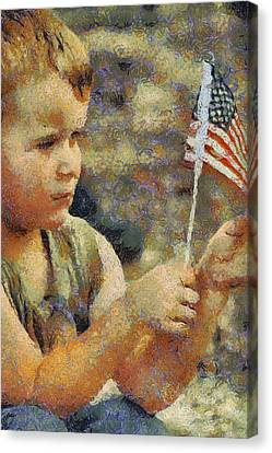 Fourth Of July Canvas Print by Elaine Frink
