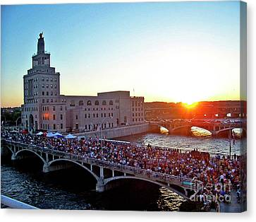 Fourth Of July In Cedar Rapids Ia 2005 Canvas Print by Jenness Asby