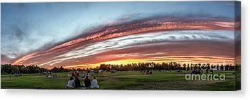 Fourth Of July Sunset At Gem Island Canvas Print