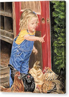 Fowl Play Canvas Print by Vanda Luddy