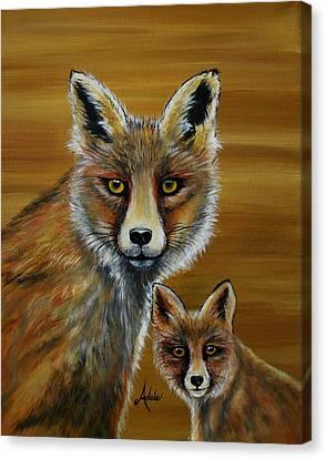 Fox Canvas Print by Adele Moscaritolo
