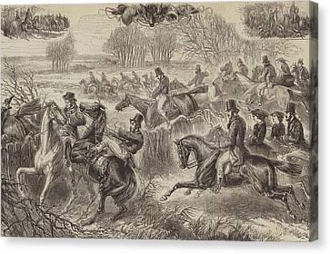 Fox Hunting, Full Cry Canvas Print
