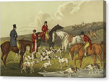 Fox Hunting, The Death Canvas Print