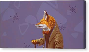 Fox Canvas Print by Jasper Oostland