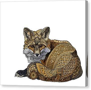 Fox Kit Canvas Print by ZH Field