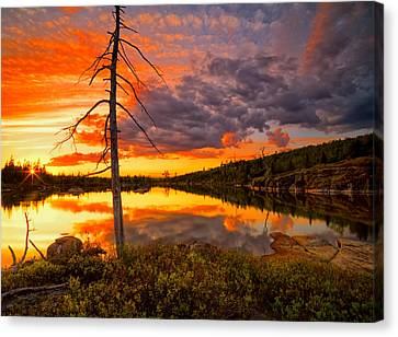 Fox Lake Sundown Canvas Print