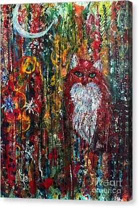 Fox Magic Canvas Print by Julie Engelhardt