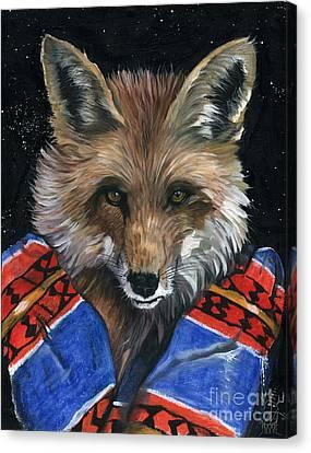 Fox Medicine Canvas Print by J W Baker