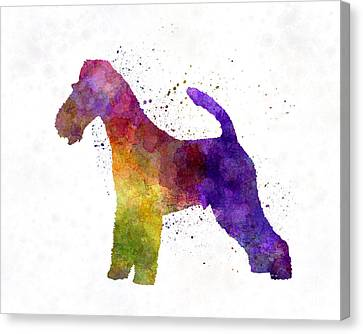 Fox Terrier Canvas Print - Fox Terrier In Watercolor by Pablo Romero