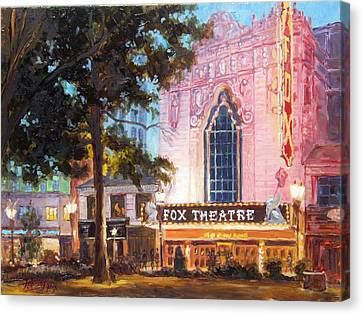 Fox Theatre In St.louis Canvas Print by Irek Szelag