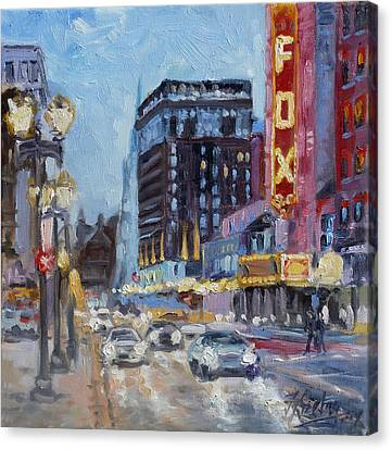 Fox Theatre On Grand Boulevard St.louis Canvas Print by Irek Szelag