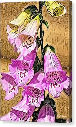 Foxglove Watercolor Canvas Print by Bill Cannon