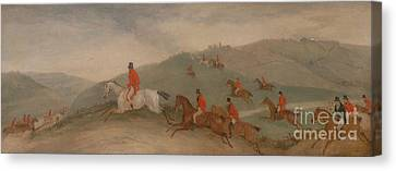 Foxhunting - Road Riders Or Funkers Canvas Print by Celestial Images