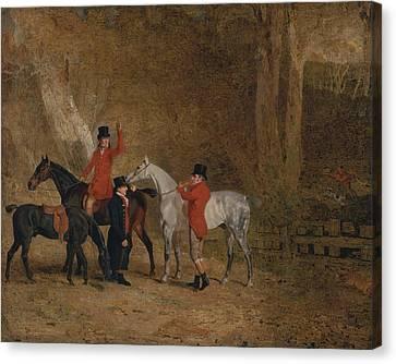 Foxhunting Scene Canvas Print by Benjamin Marshall