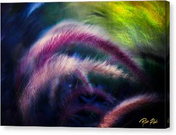 Canvas Print featuring the photograph Foxtails In Shadows by Rikk Flohr