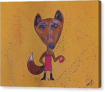 Foxxxy Canvas Print by Tatum Chestnut