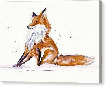 Foxy Flea Magnet Canvas Print