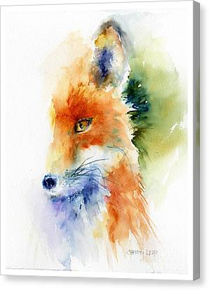 Impression Canvas Print - Foxy Impression by Christy Lemp