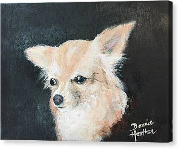 Canvas Print featuring the painting Foxy Lady  by Bonnie Heather