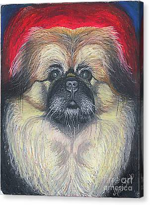 Canvas Print featuring the pastel Fozy Bear Pekingese by Ania M Milo