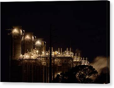 Canvas Print featuring the photograph Fpl Natural Gas Power Plant  by Bradford Martin