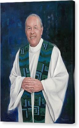 Fr. Larry Olszewski Canvas Print by Richard Barone