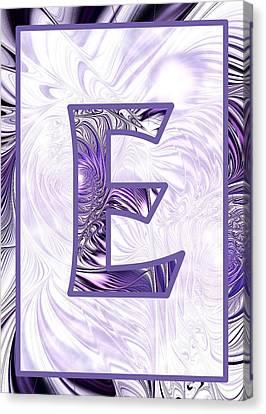 Fractal - Alphabet - E Is For Elegance Canvas Print