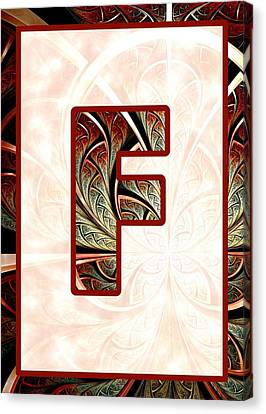 Big Canvas Print - Fractal - Alphabet - F Is For Fractal Creations by Anastasiya Malakhova