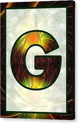 Fractal - Alphabet - G Is For Glow In The Dark Canvas Print by Anastasiya Malakhova