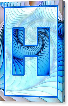Fractal - Alphabet - H Is For Hypnosis Canvas Print by Anastasiya Malakhova