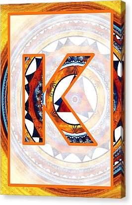 Fractal - Alphabet - K Is For Kaleidoscope Canvas Print by Anastasiya Malakhova