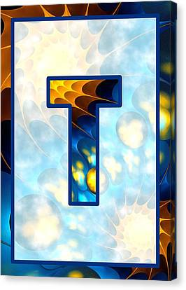 Fractal - Alphabet - T Is For Thoughts Canvas Print