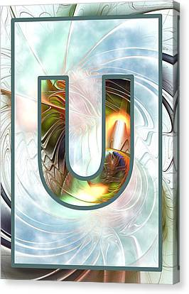 Fractal - Alphabet - U Is For Unity Canvas Print
